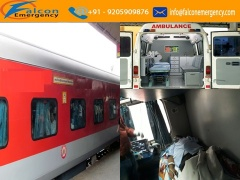 Get Emergency Train Ambulance Service in Bagdogra with Medical Team