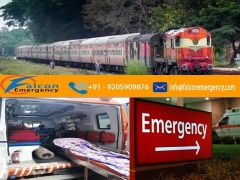 Medical Emergency Train Ambulance Service in Bhopal at Low Fare