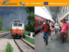 Get Falcon Emergency Train Ambulance Service in Ranchi at Low-Cost