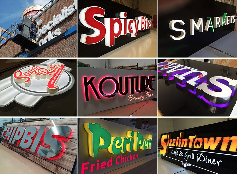 Shop Signs / Sign Company / Sign Makers/ Outdoor Signs / Business Signs / Built up 3D letters/ Lightbox Signage